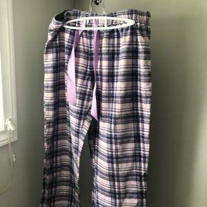 Fleece plaid pyjama pant
